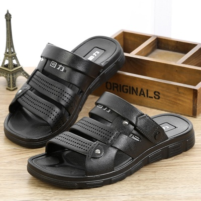 回力凉鞋男士休闲舒适新款沙滩凉防滑夏季仿皮塑胶耐磨凉拖鞋3500
