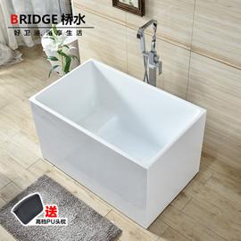 亚克力小户型浴缸迷你网红成人独立式家用保温浴盆浴缸图片