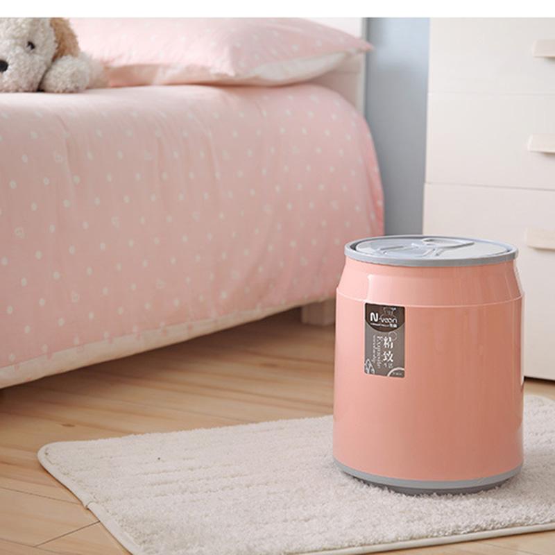 可乐易拉罐垃圾桶家用卧室床头房间带盖小北欧ins风创意可爱网红