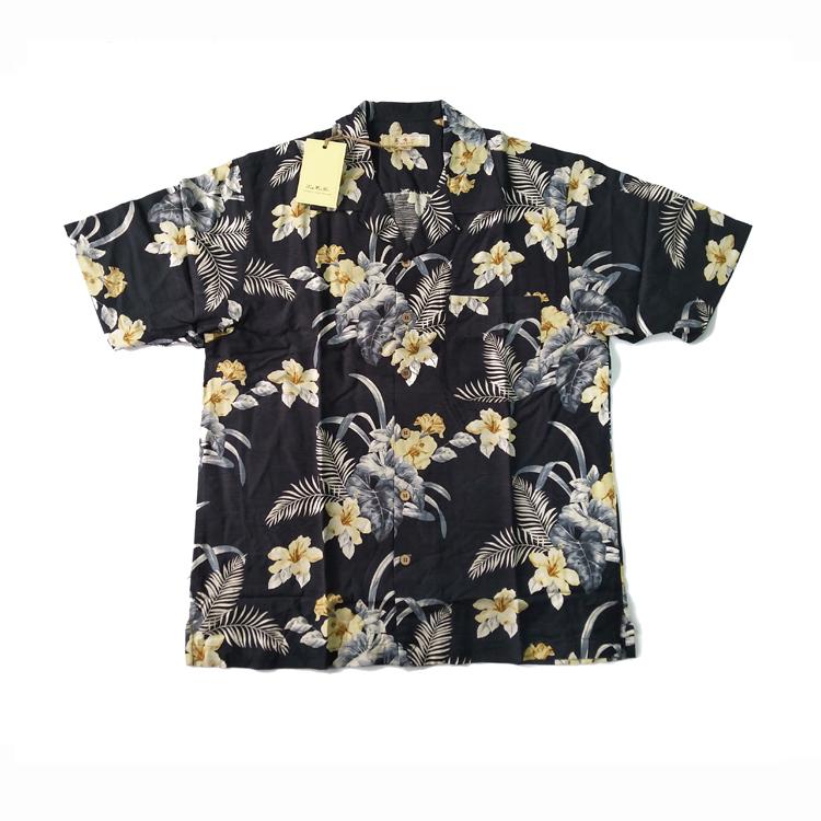 夏威夷风沙滩衬衫男港风大码印花衬衣女外穿岛服度假潮流衬衫包邮