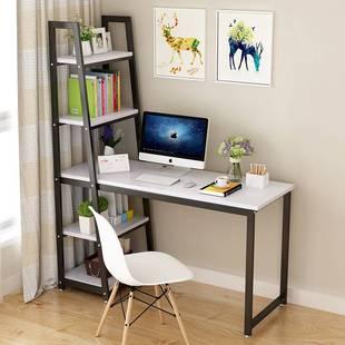 簡約電腦桌家用轉角台式辦公桌書桌帶書架的組合簡易雙人學生寫字