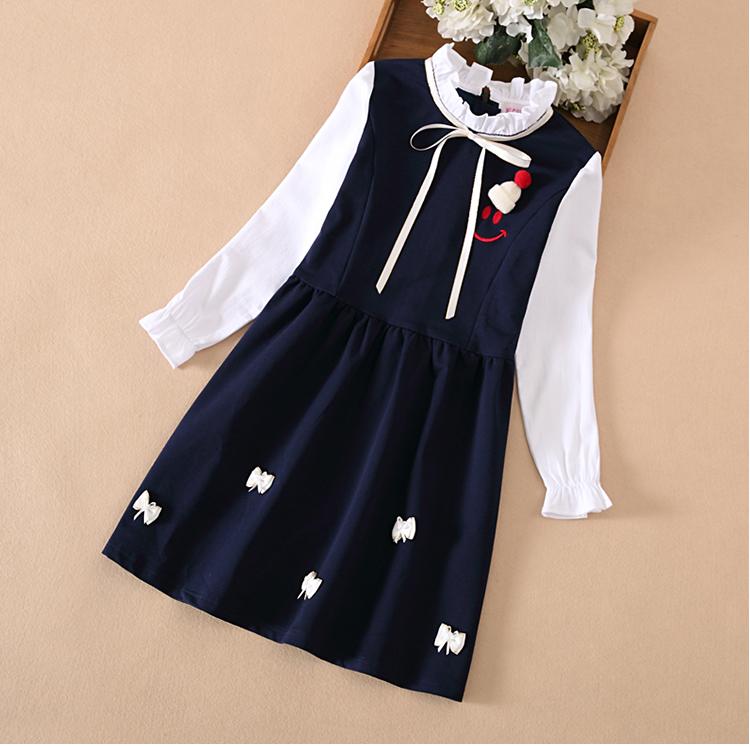 女童春装连衣裙中大童韩版长袖裙子