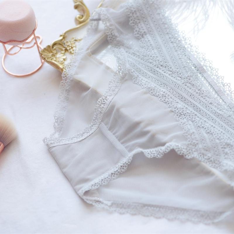 限1000张券交叉低腰纱网薄款透明性感内裤女夏季舒适透气柔软女士大码三角裤