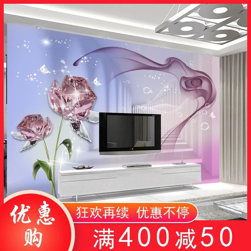 5d电视背景墙壁纸8d立体客厅影视墙布卧室3d简约现代壁画装饰墙纸