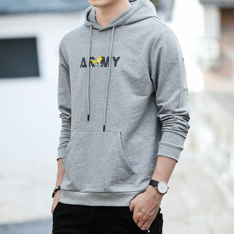 Mens Hooded Sweater 2018 autumn new Korean version personality handsome trend letter printed mens sports Hoodie