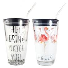 网红水杯创意火烈鸟情侣水杯单个