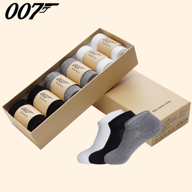 007 mens summer breathable invisible light mouth cotton non slip mens era socks low top socks thin 6 pairs