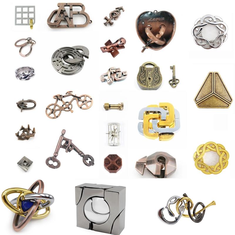 puzle西街は知恵と鍵のおもちゃの全セットを遊びます。シングルの指輪と夏休みのベストバッグを選んでセットにして収納箱を送ります。