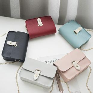 女2018新款时尚百搭链条小ck包包包