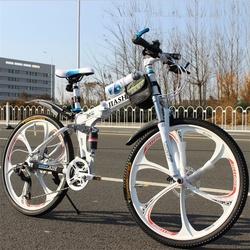 双避震双碟刹30速长途越野变速跑车 全地形am山地自行车 折叠单车