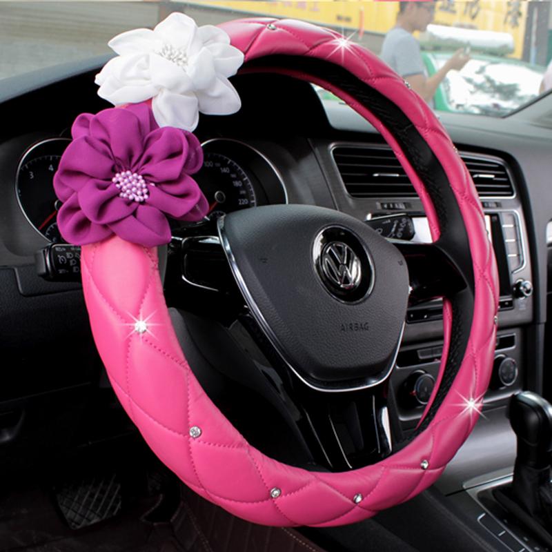 汽車方向盤套女士 把套用於鈴木新奧拓新速騰朗逸大眾寶來奧迪