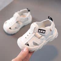 查看男宝宝凉鞋夏季婴儿0-1一2岁小童3包头4软底儿童防滑男童学步鞋女价格