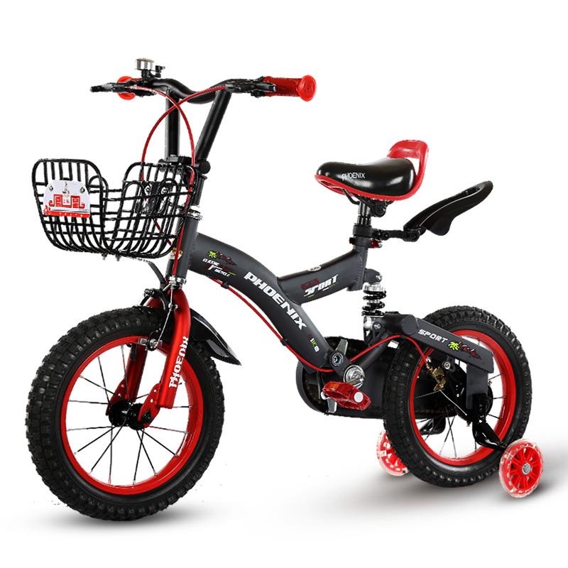 鳳凰兒童自行車12 14 16寸3~5~6~8歲男孩單車小孩女孩減震童車