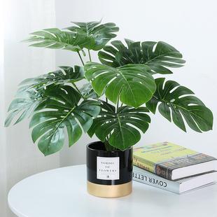 北欧ins仿真植物装饰花风小摆件客厅桌面盆栽家居室内假绿植盆景