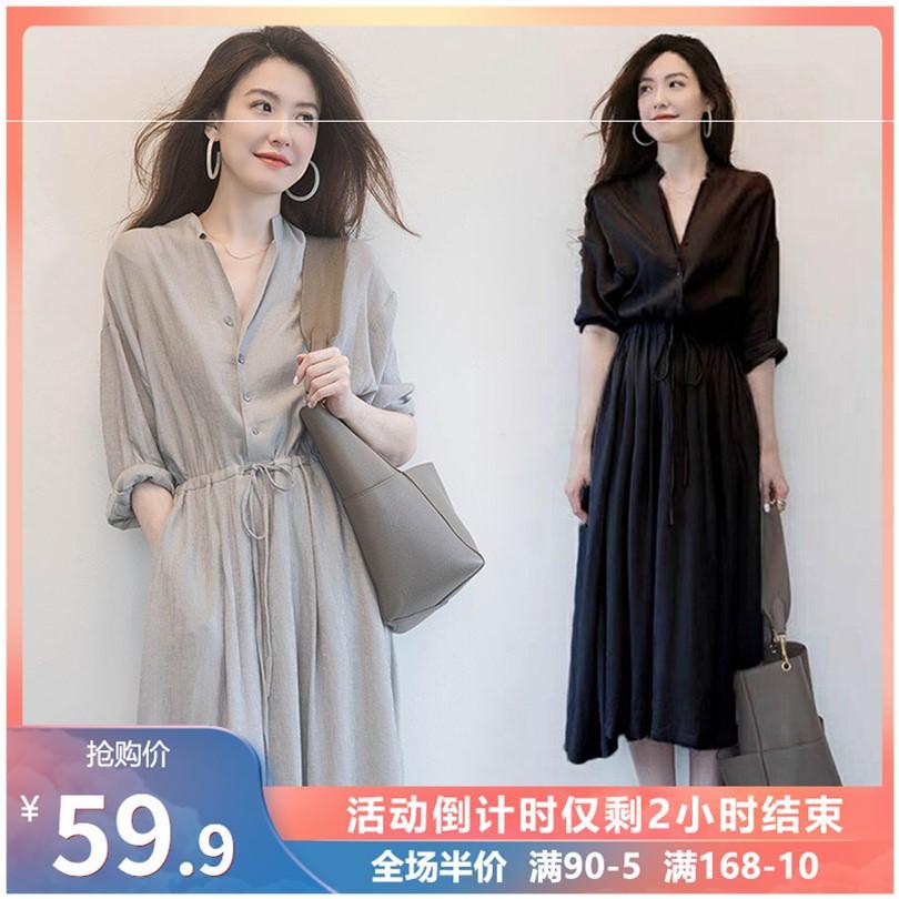 2020年新款爆款小个子连衣裙子气场轻奢名媛炸街气质高端秋季女装