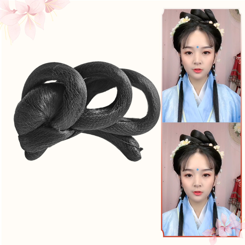 Nanfeng ancient costume Hanfu wig with deformable Sijia bun hand remnant party hair bun is a good match for cos fairy head
