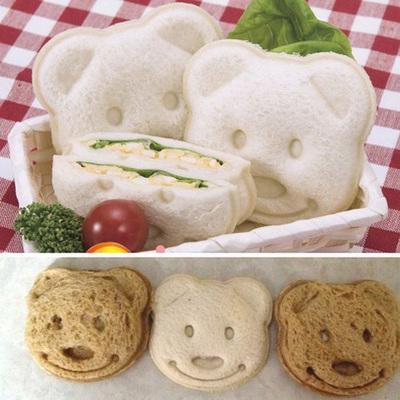 ✅小熊三明治模具 吐司面包制作器 口袋面包机 DIY饭团便当工具