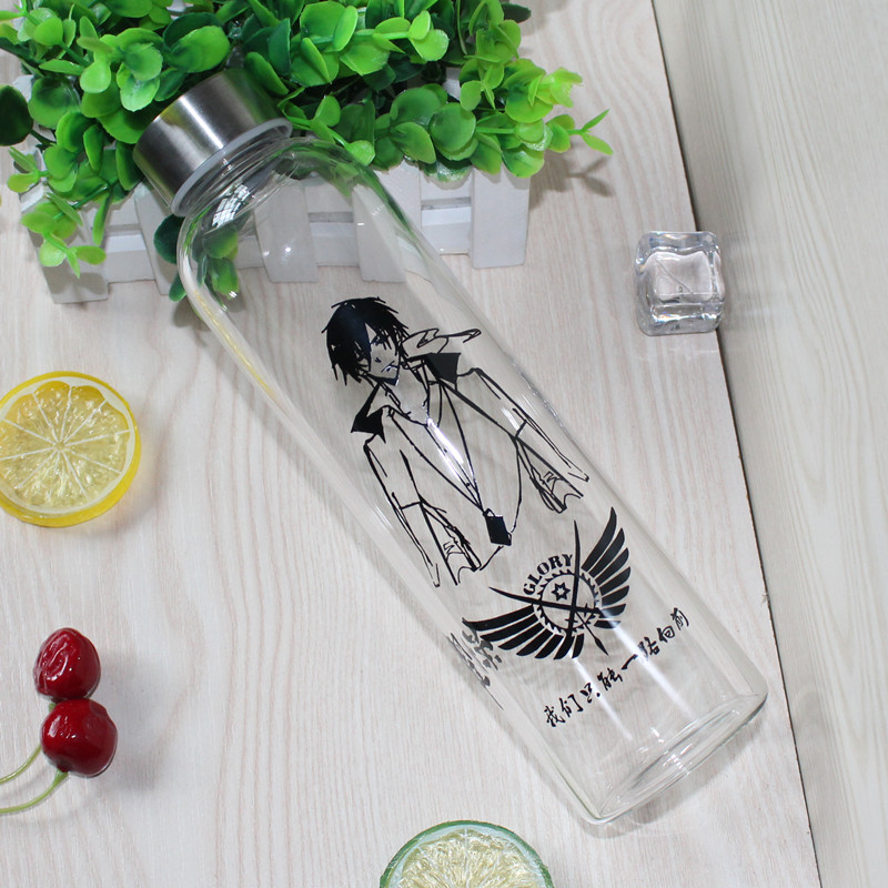 Animation surrounding glass water bottle 550ml glory tomb robbing notes
