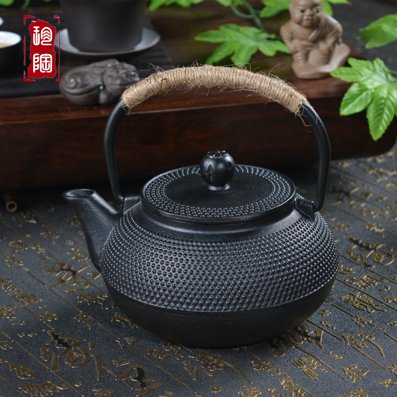 珍陶阁铸铁壶无涂层铁茶壶日本铁壶南部铁壶生铁壶粒子煮茶老铁壶