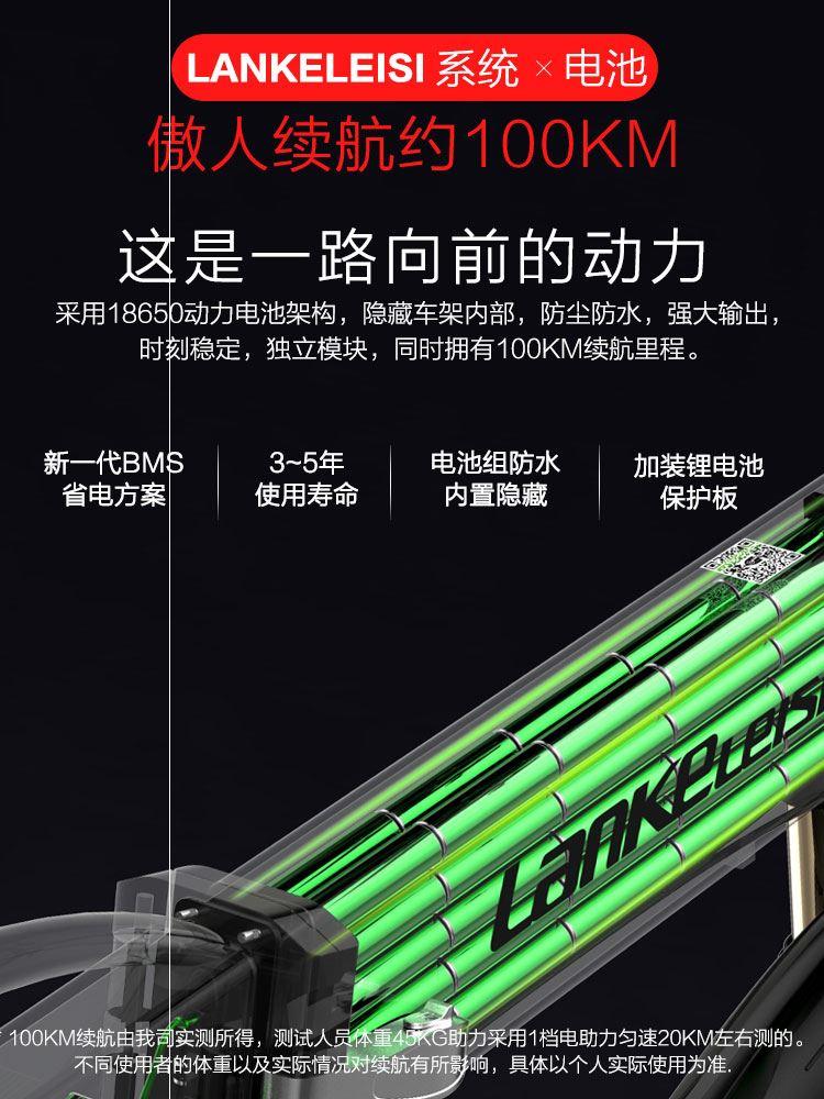 锂电20寸折叠式助力车电动自行车
