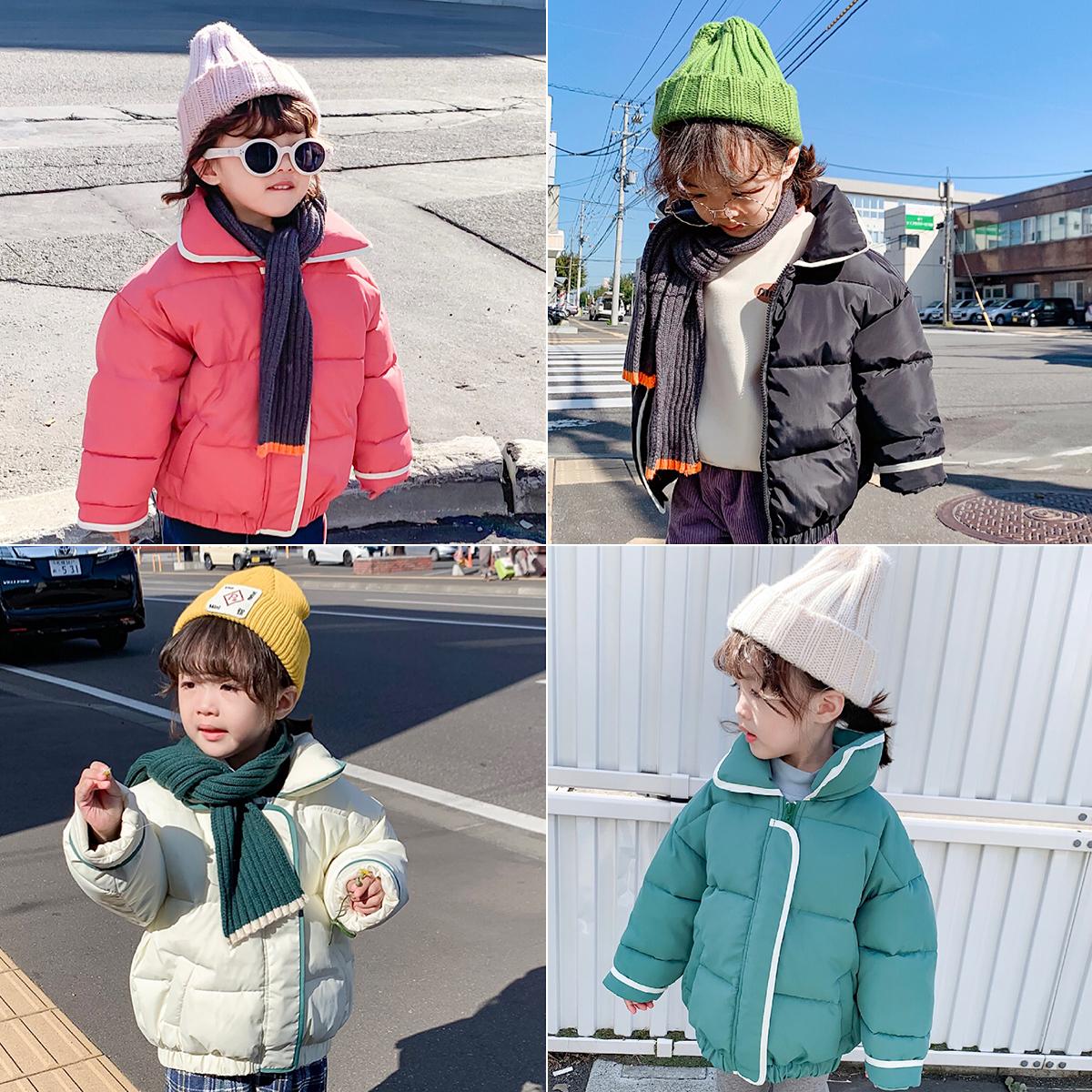蓝小爸童装女童棉服新款冬装宝宝加厚面包服儿童洋气棉袄外套图片