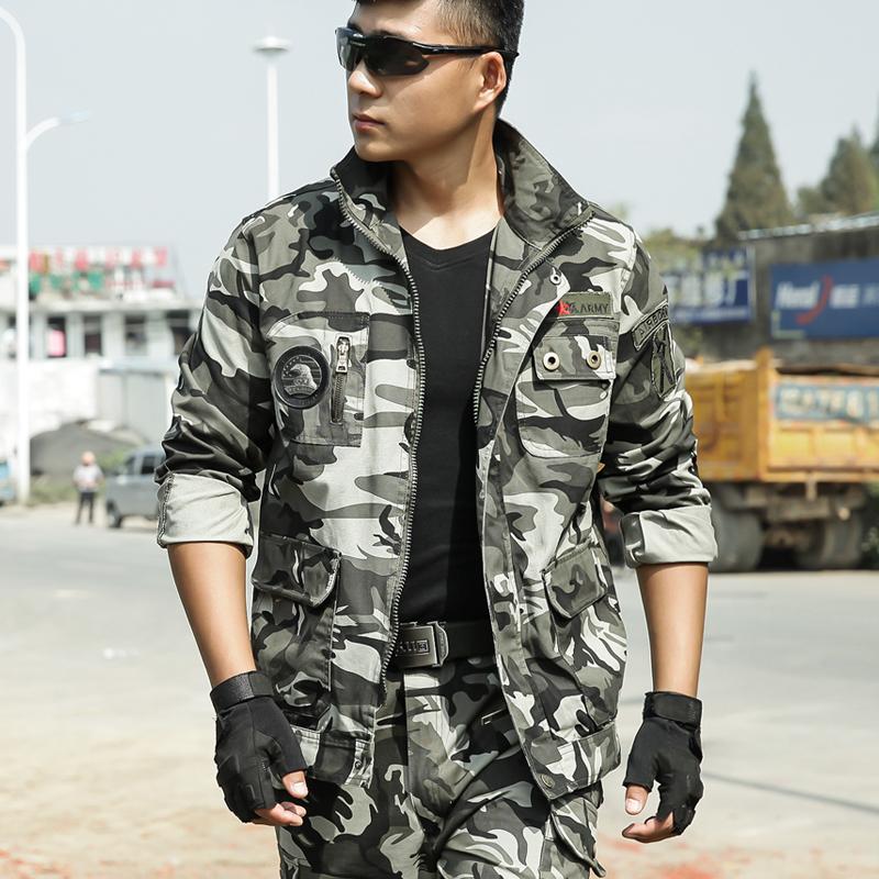 秋冬户外服装特种兵战术服军装套装作训服纯棉迷彩服套装男