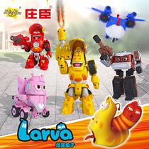 庄臣爆笑虫子机甲战队男孩公仔变形玩具车子屎壳郎合体机器人全套