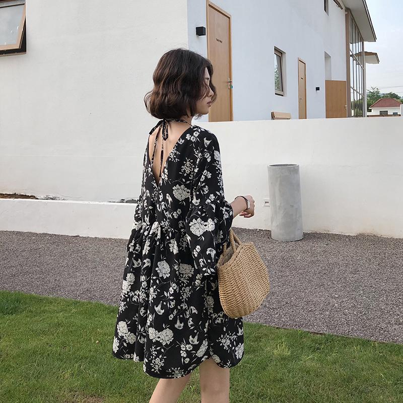 大码女装适合胖女人穿的夏装新款胖妹妹超仙女显瘦遮肚连衣裙减龄