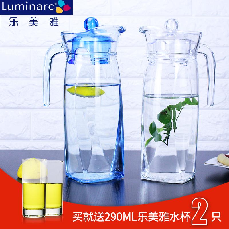 樂美雅玻璃水壺冷水壺玻璃涼水壺耐熱開水壺茶壺透明鴨嘴壺大容量