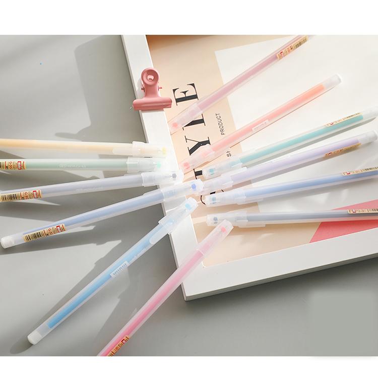 细彩笔学生0笔芯5中性文具混装水性笔2018水性笔容量大黑红彩色笔