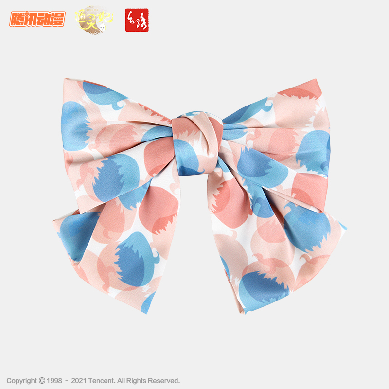 Taiwan embroidery & Tongling imperial concubine co branded bow hairpin new pink one line clip hairband headband hair ornament