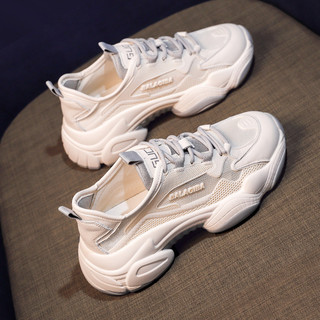 老爹鞋子女2020新款秋款女鞋百搭秋季爆款小白运动鞋休闲鞋ins潮