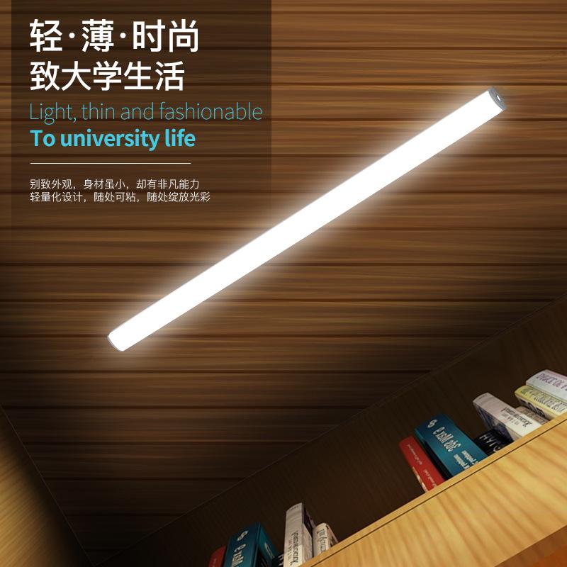 学生宿舍寝室简约现代充电LED护眼书桌白暖光USB长条卧室开关台灯