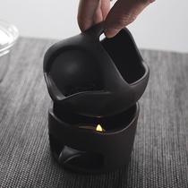 晨高陶瓷茶叶熏茶炉迷你烤香炉醒茶提香器粗陶功夫茶道茶具配件