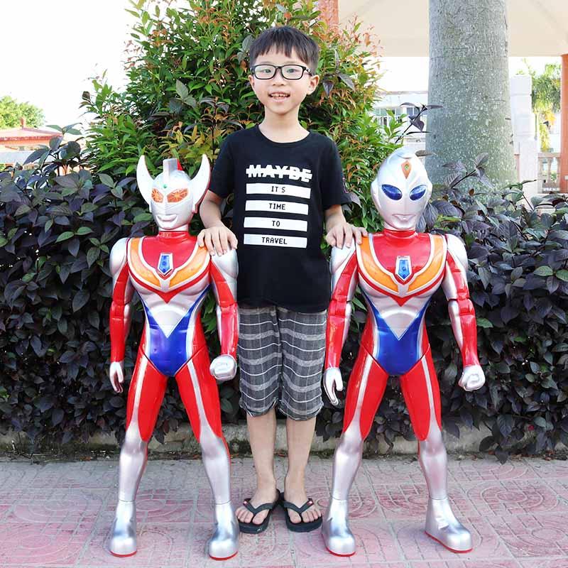 超大号奥特曼银河超人玩具儿童迪迦赛罗泰罗套装变身器变形机器人