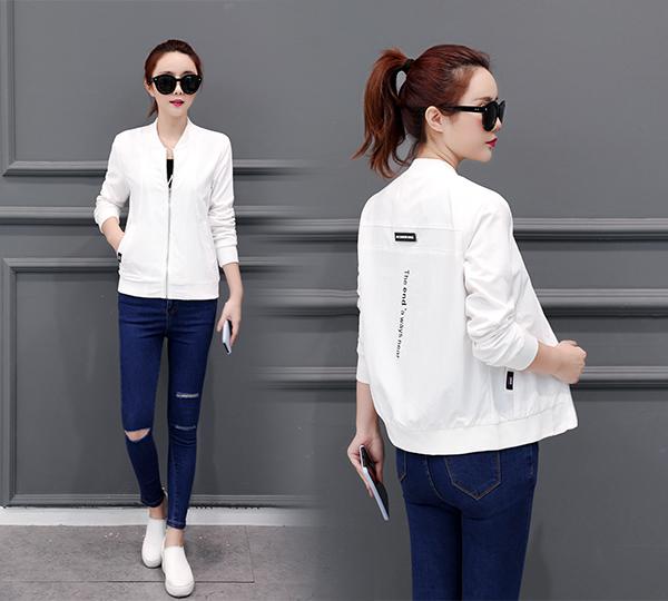 Loose short coat 2018 new Korean women's versatile spring and autumn fashion BF Hong Kong bomber women's jacket thin