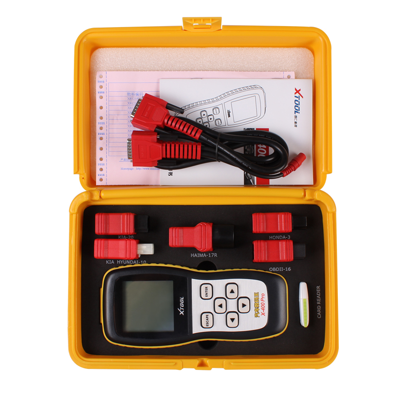 正品朗仁X400PRO汽车故障检测仪OBD诊断仪保养灯归零里程调教电子