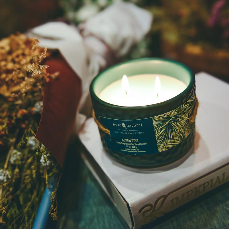 美国原装进口香薰蜡烛安神助眠创意陶瓷大豆蜡大容量 送精美火柴
