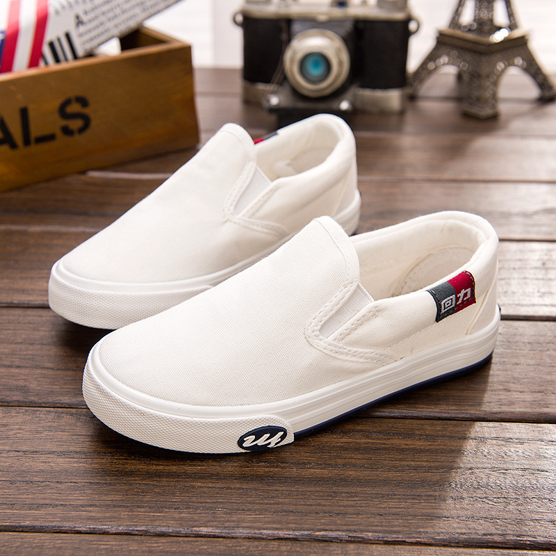 Huili childrens shoes childrens canvas shoes spring and Summer Boys casual cloth shoes girls shoes students gymnastic shoes