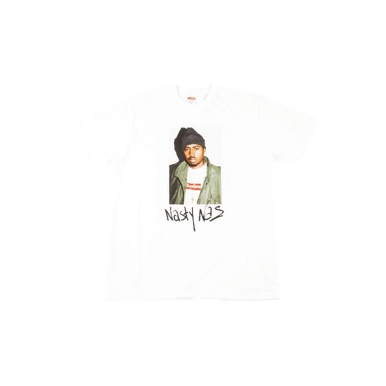 Supreme Nasty Nas Tee 欧美潮牌T恤 人物印花白色短袖 - SU1992
