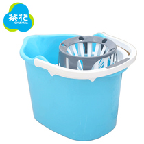 Camellia MOP Barrel tow barrel hand pressure MOP squeeze bucket mop wring dry household water free Hand wash truck