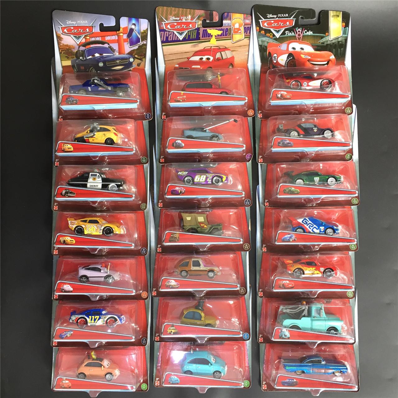 美泰汽车总动员2系列 闪电麦昆板牙路霸车王合金小赛车模型玩具3