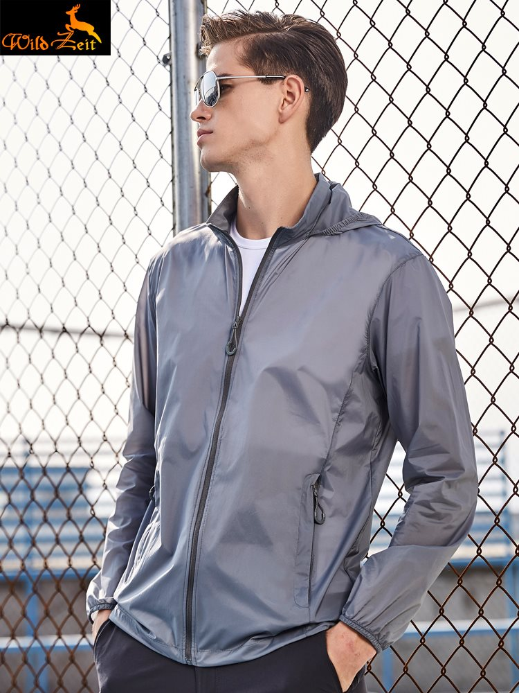 Sun proof clothing mens outdoor sun proof clothes womens light and breathable sports skin clothes quick drying windbreaker fishing coat summer