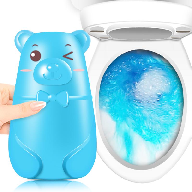 铭臣小熊蓝泡泡洁厕灵马桶清洁剂厕所洁厕宝除臭去异味家用清香型