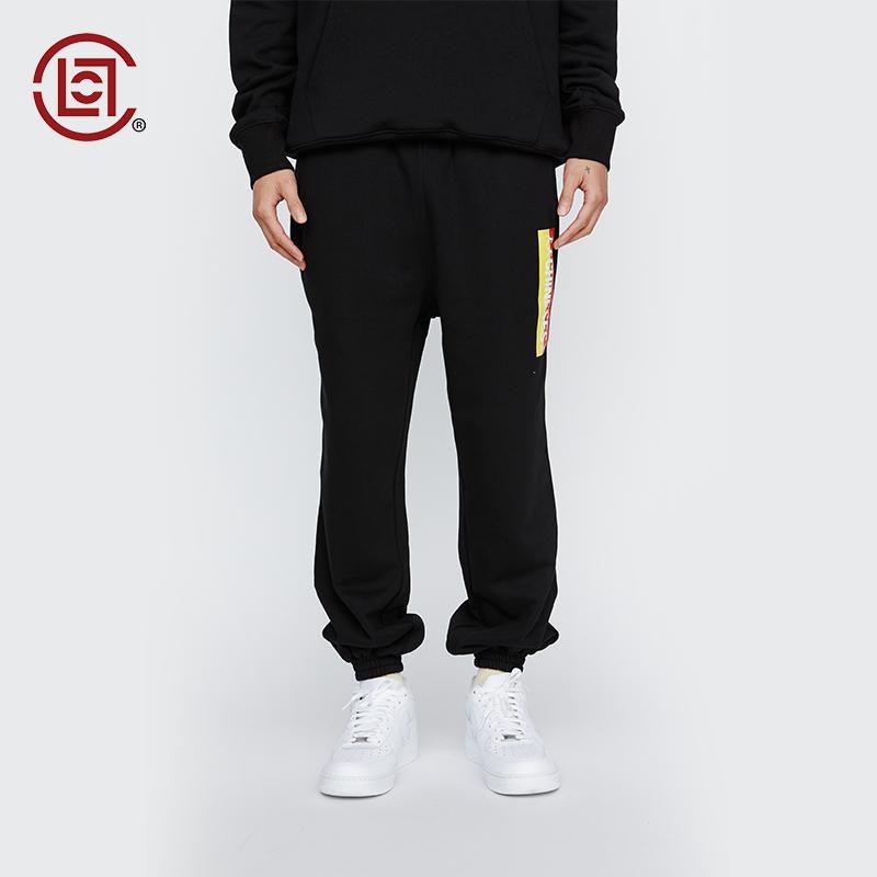 【CLOT CLOTTEE】华人印花束脚裤 华人系列黑色 陈冠希主理