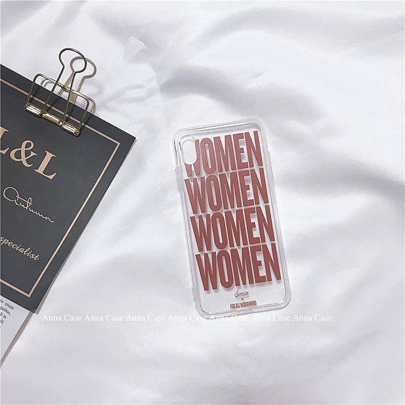 欧美个性WOMEN女适用于11 pro/8plus苹果x手机壳XS Max/XR/6s/7软