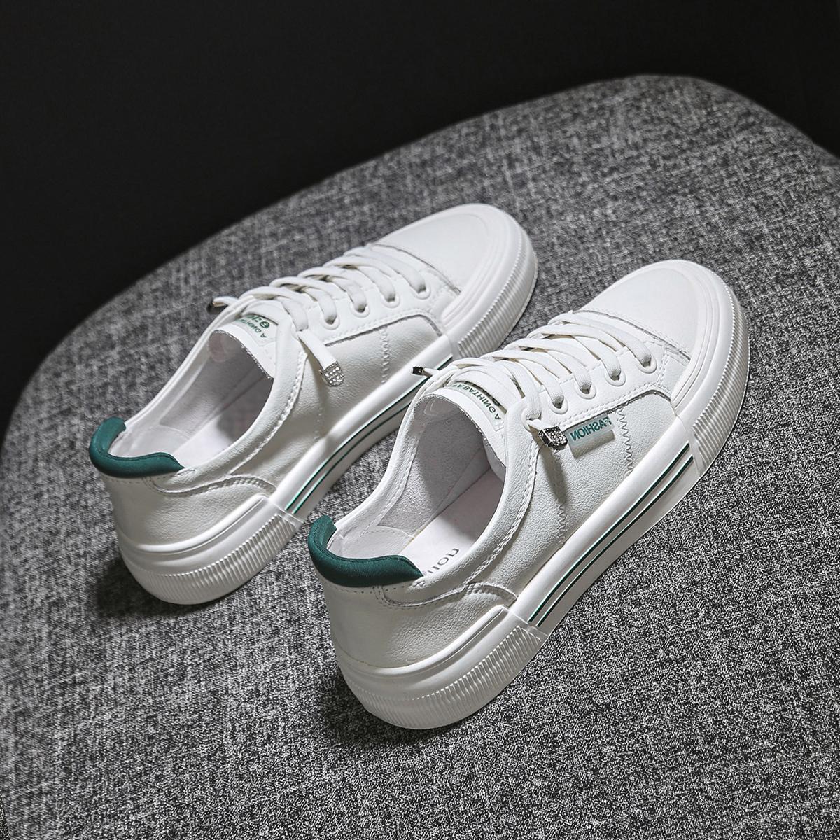 小白鞋夏2021年新款百搭平底一脚蹬