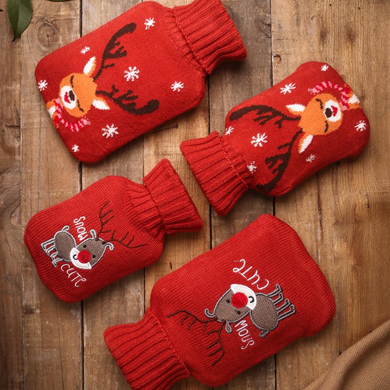 热水袋女注水热宝暖水袋暖肚子针织套热敷橡胶小号随身迷你暖手宝
