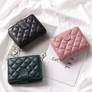 真皮折叠小巧钱包女短款卡包一体超薄精致高档大容量多卡位小款潮图片
