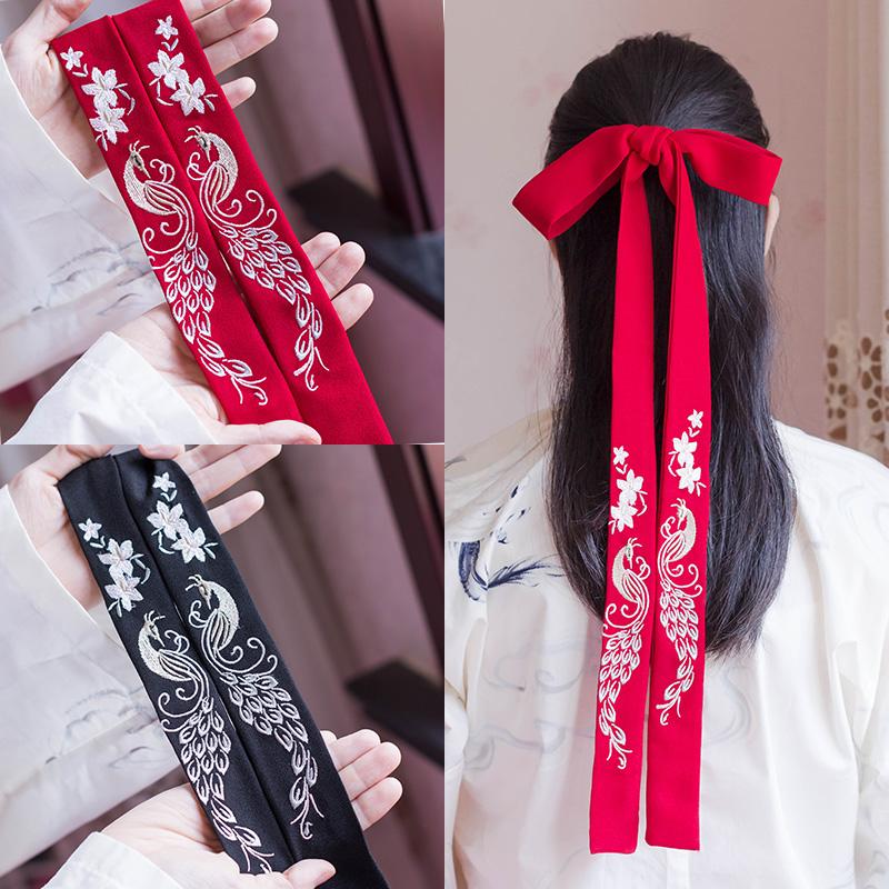 古风彼岸花汉服绣花超仙中国风发带